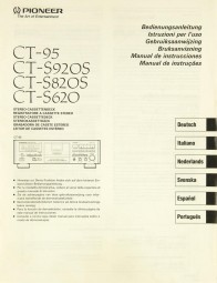 Pioneer CT-95 / CT-S 920 S / CT-S 820 S / CT-S 620 Bedienungsanleitung
