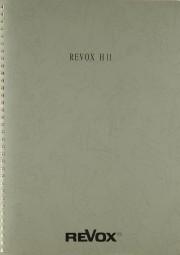 Revox H 11 Bedienungsanleitung