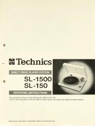 Technics SL-1500 / SL-150 Bedienungsanleitung