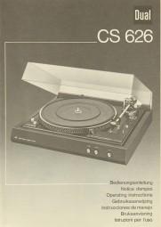 Dual CS 626 Bedienungsanleitung
