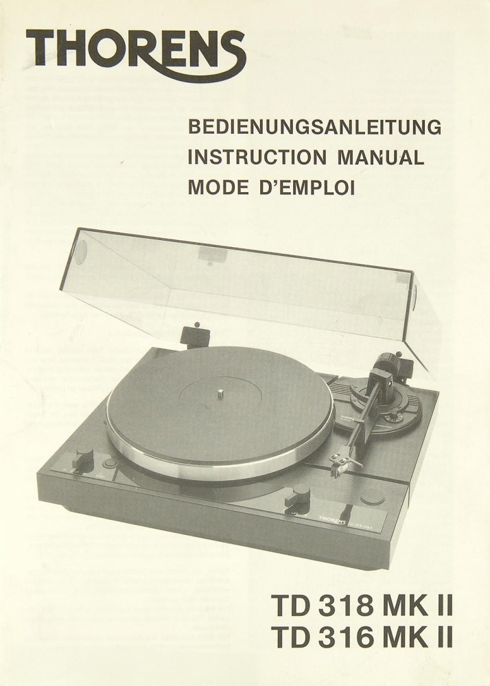 thorens td 126 mk iii service manual