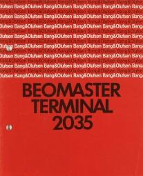 B & O Beomaster Terminal 2035 Bedienungsanleitung