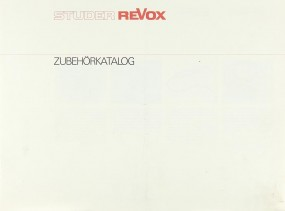 Revox Zubehörkatalog Prospekt / Katalog