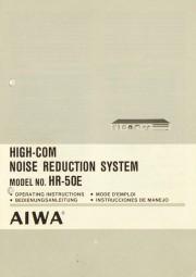 Aiwa HR-50 E Bedienungsanleitung