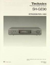Technics SH-GE 90 Bedienungsanleitung