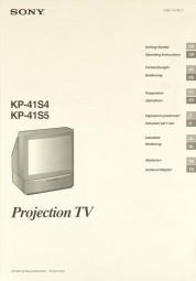 Sony KP-41 S 4 / KP-41 S 5 Bedienungsanleitung