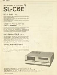 Sony SL-C 6 E Bedienungsanleitung