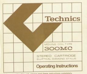 Technics 300 MC Bedienungsanleitung
