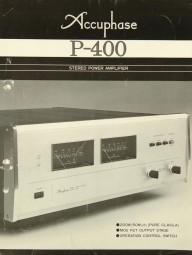 Accuphase P-400 Prospekt / Katalog