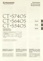 Pioneer CT-S 740 S / CT-S 640 S / CT-S 540 S Bedienungsanleitung