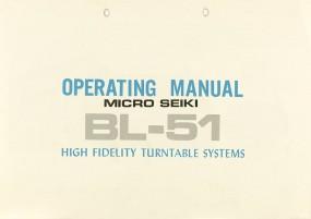 Micro Seiki BL-51 Bedienungsanleitung