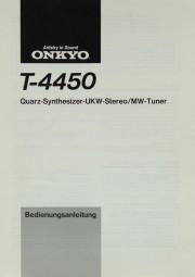 Onkyo T-4450 Bedienungsanleitung