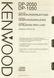 Kenwood DP-2050 / DP-1050 Bedienungsanleitung
