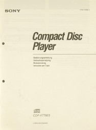 Sony CDP-X 779 ES Bedienungsanleitung