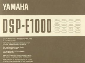 Yamaha DSP-E-1000 Bedienungsanleitung