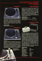 Phonosophie Plattenspieler & Zubehör Prospekt / Katalog