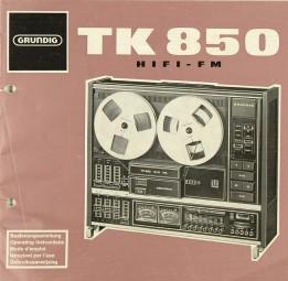 Grundig TK 850 Bedienungsanleitung