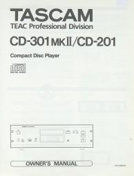 Tascam / Teac CD-301 MK II / CD-201 Bedienungsanleitung