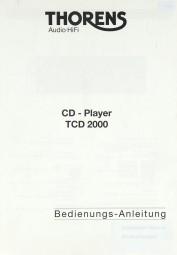 Thorens TCD 2000 Bedienungsanleitung