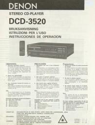 Denon DCD-3520 Bedienungsanleitung