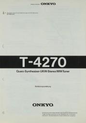 Onkyo T-4270 Bedienungsanleitung