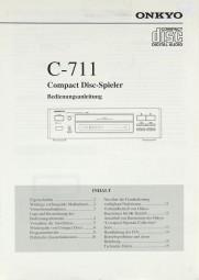 Onkyo C-711 Bedienungsanleitung