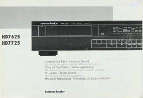 Harman / Kardon HD 7625 / HD 7725 Bedienungsanleitung