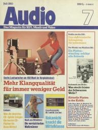 Audio 7/1983 Zeitschrift