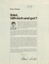 Audio 1/1984 Zeitschrift