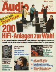 Audio 5/1984 Zeitschrift