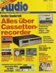 Audio 6/1984 Zeitschrift