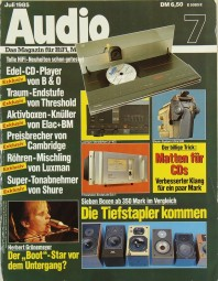 Audio 7/1985 Zeitschrift