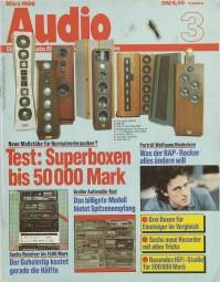 Audio 3/1986 Zeitschrift