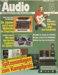 Audio 5/1986 Zeitschrift