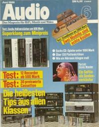 Audio 6/1986 Zeitschrift