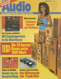 Audio 7/1986 Zeitschrift