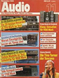 Audio 11/1986 Zeitschrift