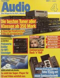 Audio 4/1987 Zeitschrift