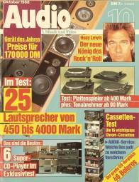Audio 10/1988 Zeitschrift