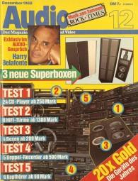 Audio 12/1988 Zeitschrift
