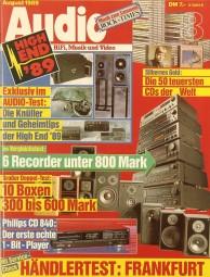 Audio 8/1989 Zeitschrift