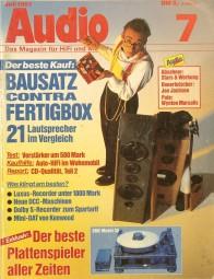 Audio 7/1991 Zeitschrift
