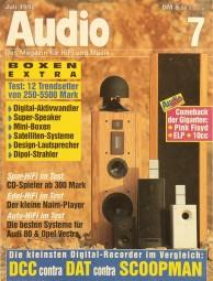 Audio 7/1992 Zeitschrift