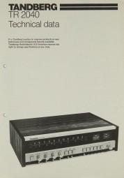 Tandberg TR-2040 Sonstige Literatur