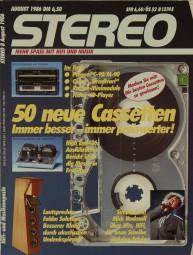 Stereo 8/1986 Zeitschrift