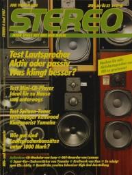 Stereo 6/1987 Zeitschrift
