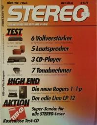 Stereo 3/1988 Zeitschrift