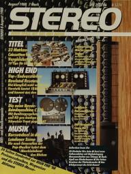 Stereo 8/1988 Zeitschrift