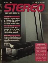 Stereo 6/1989 Zeitschrift