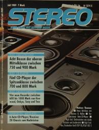 Stereo 7/1989 Zeitschrift